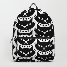 Mid Century Modern Cat Black & White Backpack