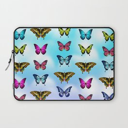 Blue Sky Butterflies Laptop Sleeve