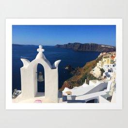 Oia, Greece (photo) Art Print