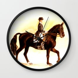 Horses and People No.2 Wall Clock