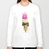 icecream Long Sleeve T-shirts featuring ICECREAM by Creepstian