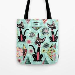 Geometric Cubist Hep Cats Tote Bag