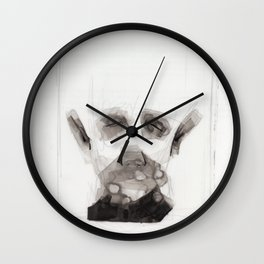 Portrait Abstraction Wall Clock