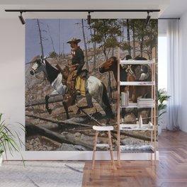 "Frederic Remington Western Art ""Prospecting for Cattle Range"" Wall Mural"