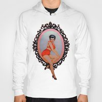 pin up Hoodies featuring Pin Up by Lydia Dick