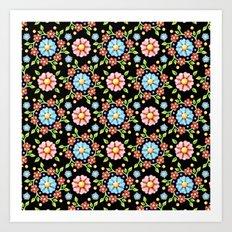 Millefiori Pinwheel Pattern Art Print