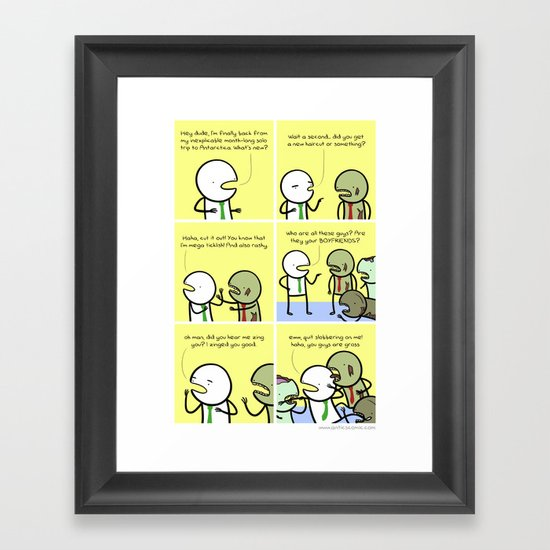 Antics #086 - zing indeed Framed Art Print