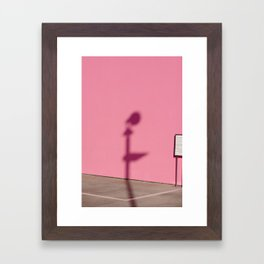 PINK SHADOW LA Framed Art Print