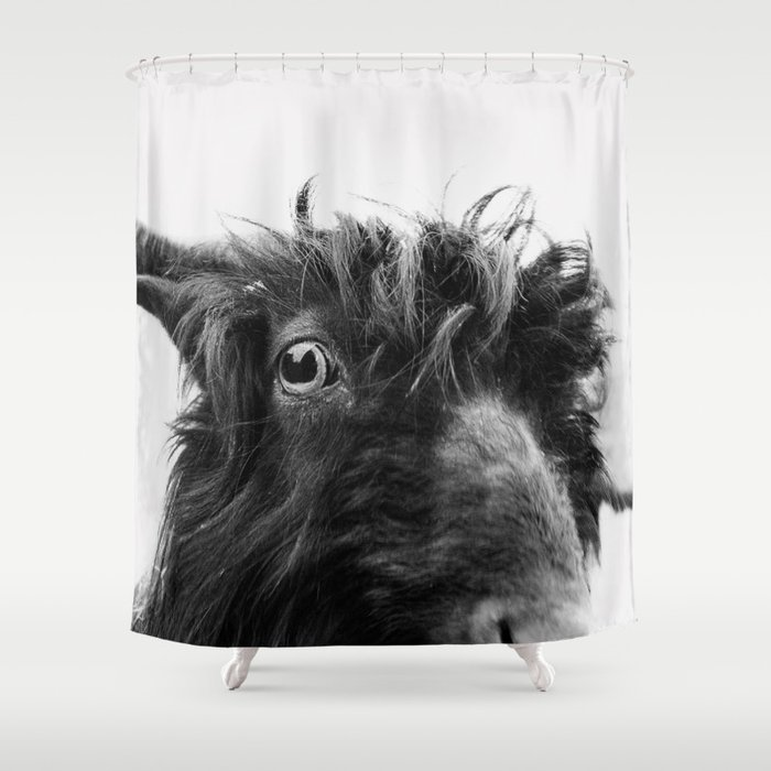 Charlie The Goat Shower Curtain