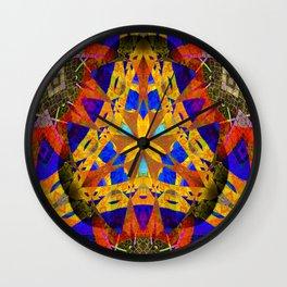 Stellar Vintage Geometric Meditation Mixed Media Mandala Wall Clock