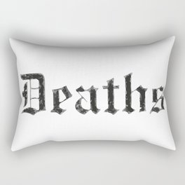 Deaths Muertes смертей Todesfälle Morts Rectangular Pillow
