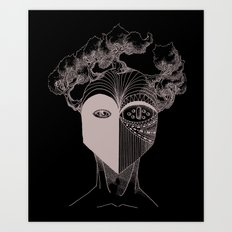 Masque de la Terre (Earth Mask) Art Print