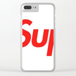 Supreme Red Letters Clear iPhone Case