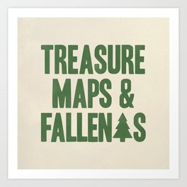 Treasure Maps & Fallen Trees Art Print