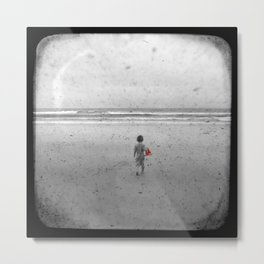 Little Red Sailboat - Through The Viewfinder (TTV) Metal Print