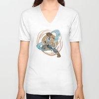 korra V-neck T-shirts featuring Korra by Vaahlkult
