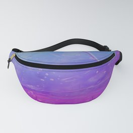 Abstract - blue and pink - Fanny Pack