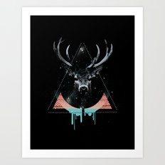 The Blue Deer Art Print