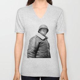 General George S. Patton Unisex V-Neck