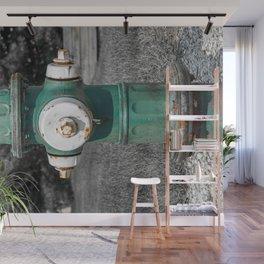 Mueller Super Centurion Green Bonnet and Barrel with White Caps Wall Mural