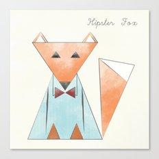 Hipster Fox Canvas Print