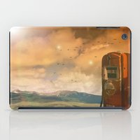 pocket fuel iPad Cases featuring old fuel pump by Cenk Cansever