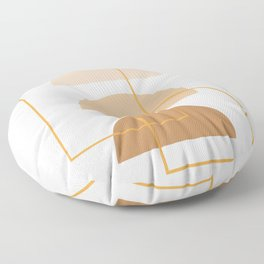 Half Moon Geometric Arch Stack Line Art Drawing Abstract Minimal Lines Design Floor Pillow