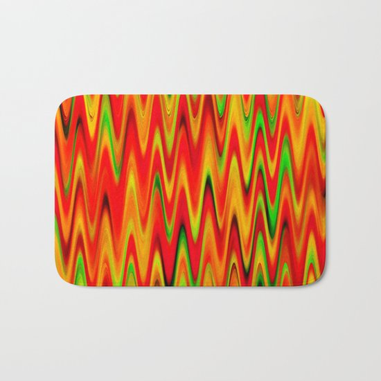 WAVY #1 (Reds, Oranges, Yellows & Greens) Bath Mat