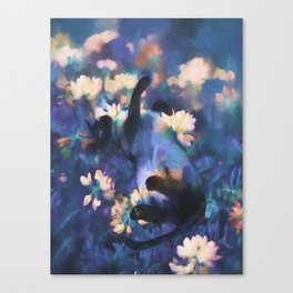 A Cat's Dream Canvas Print