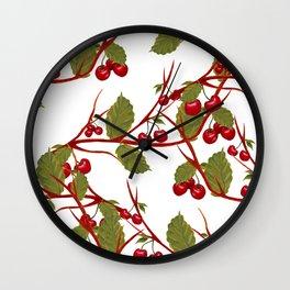 Cherry fruits pattern Wall Clock