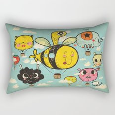 Happy Flight / The Animals Hot Air Balloon Voyagers / Patterns / Clouds Rectangular Pillow