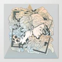 frames Canvas Prints featuring BROKEN FRAMES by CASSIDY RAE MARIETTA