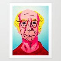 larry david Art Prints featuring Larry David 1 by Alyssa Underwood Contemporary Art