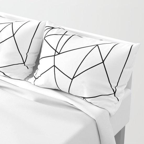 Simple Modern Black and White Geometric Pattern by blackstrawberry