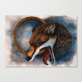 Fox, Mythology, Constellation Canvas Print