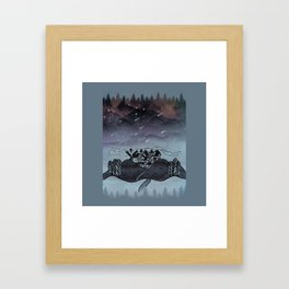 The Night of Clouds and Stars Framed Art Print