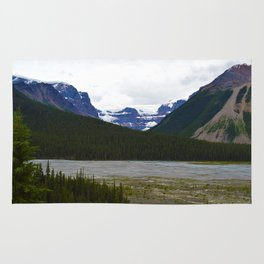 Stutfield Glacier along the Icefields Parkway  in Jasper National Park, Canada Rug