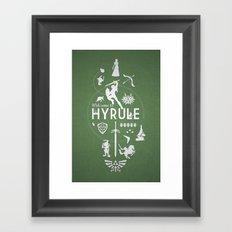 Welcome To Hyrule Framed Art Print