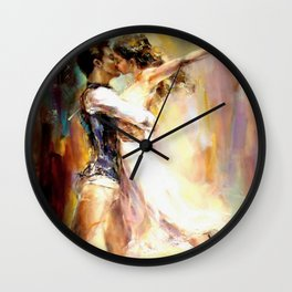 dancing lovers Wall Clock