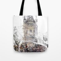 london Tote Bags featuring London by Nicolas Jolly
