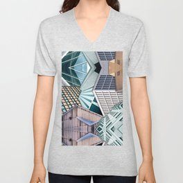 City Buildings Abstract Unisex V-Neck