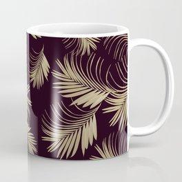 Palm Leaves Pattern - Gold Cali Vibes #4 #tropical #decor #art #society6 Coffee Mug