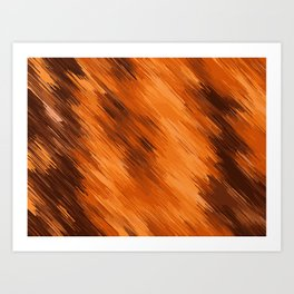 brown orange and dark brown painting texture abstract background Art Print