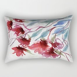 Weeping Red Rectangular Pillow