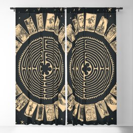Major Arcana & Golden Labyrinth Blackout Curtain