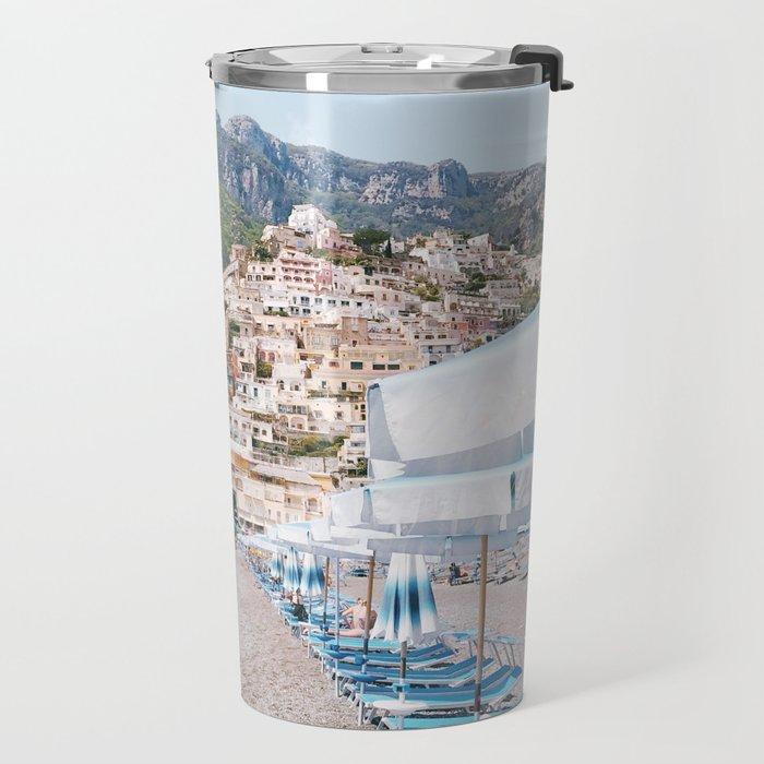 Amalfi Coast Beach Travel Mug