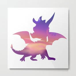Spyro Lofty Castle Skybox Metal Print
