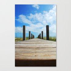 Baldhead island  Canvas Print