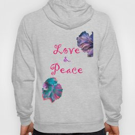 Love and Peace Fighter Fish Hoody