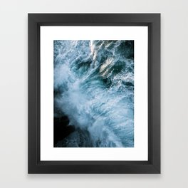 Wave in Ireland during sunset - Oceanscape Framed Art Print